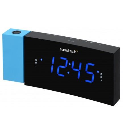 Sunstech FRDP3 - Radio despertador, sintonizador FM, color Azul