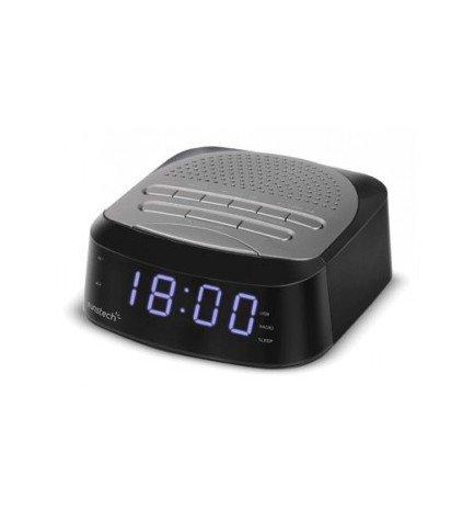 Sunstech FRD40 - Radio despertador, bluetooth, color Gris