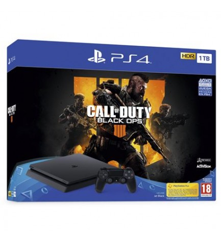Sony Playstation 4 Slim - Consola, capacidad 1 TB, incluye Call of Duty Black Ops 4