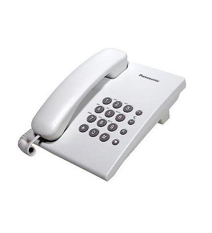 Panasonic KX-TS500EX - Teléfono fijo, de mesa, color Blanco