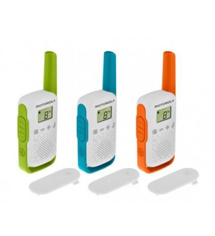 Motorola T42 - Walkie Talkie, pack de tres