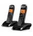Motorola S1202 - Teléfono inalámbrico, pack de dos, color Blanco Negro