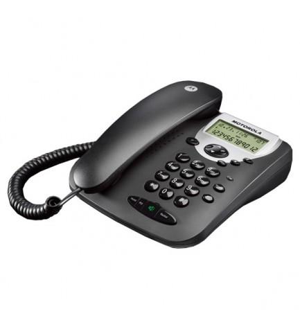 Motorola CT2 - Teléfono fijo, de mesa y pared, color Negro