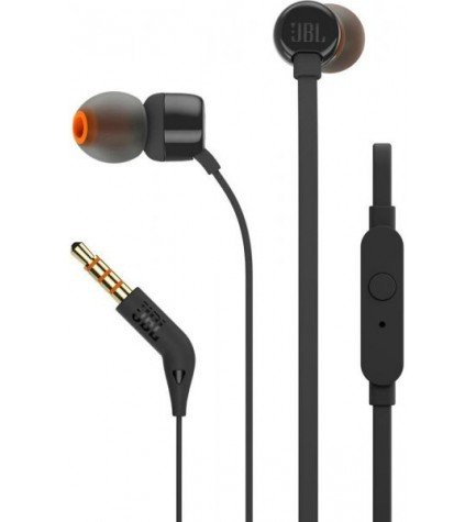 JBL T110 - Auriculares de botón, color Negro