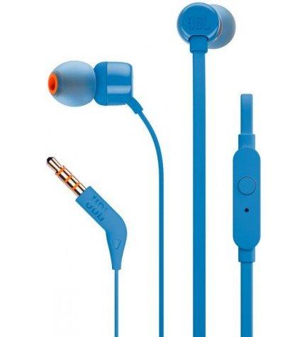JBL T110 - Auriculares de botón, color Azul