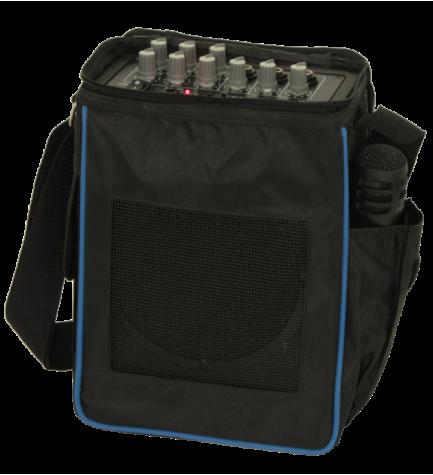 Ibiza PORT6 - Trolley, altavoz bluetooth, incluye micrófono, potencia 20w, puerto USB, color Negro