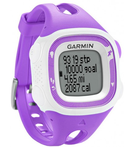 Garmin Forerunner 15 - Reloj deportivo, color Blanco Morado