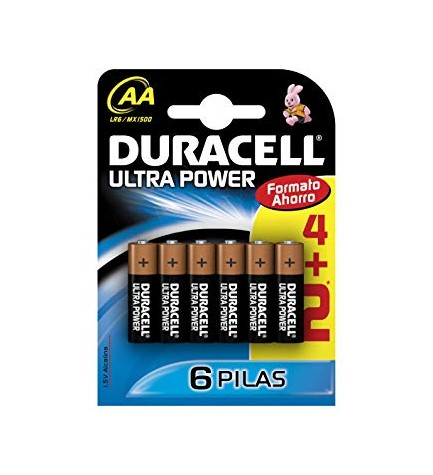Duracell LR06 ULTRA PWR COUNTER - Pila, pack 6