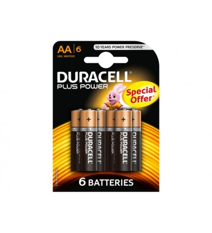 Duracell LR06 PLUS PWR COUNTER - Pila, pack 6