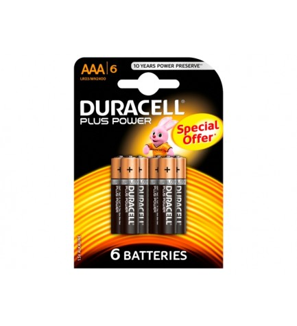 Duracell LR03 PLUS PWR COUNTER - Pila, pack 6