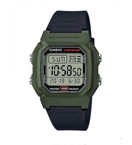 Casio W-800HM-3A - Reloj, digital, color Verde