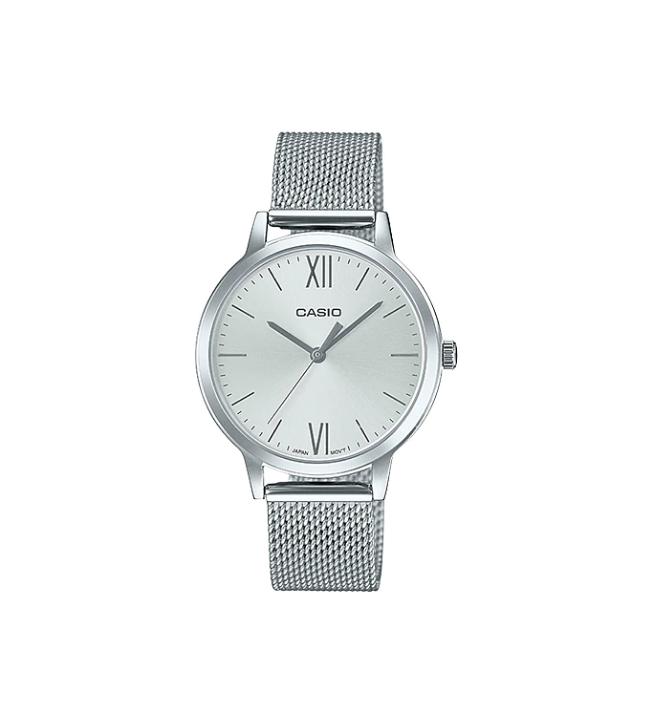 Casio LTP-E157M-7A - Reloj, material acero, esfera plata