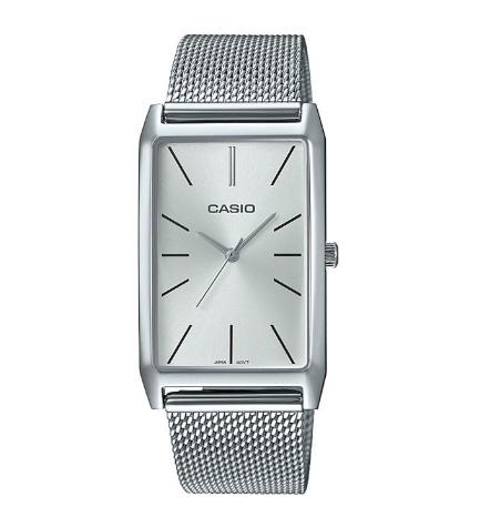Casio LTP-E156M-7A - Reloj, diseño rectangular, color Plata