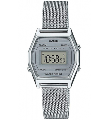Casio LA-690WEM-7E - Reloj, digital, color Plata