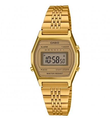 Casio LA-690WEGA-9E - Reloj, digital, color Dorado
