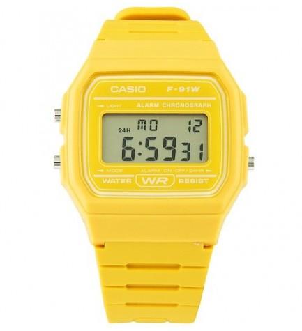 Casio F-91WC-9A - Reloj, color Amarillo