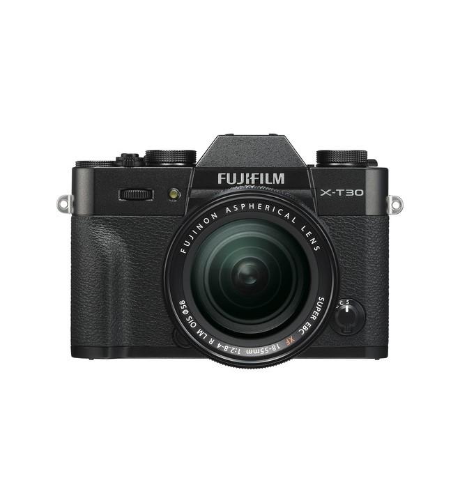 Fujifilm X-T30 - Cámara sin espejo, incluye XF 18-55mm F2.8-4, resolución 26.1 Mpx, color Negro