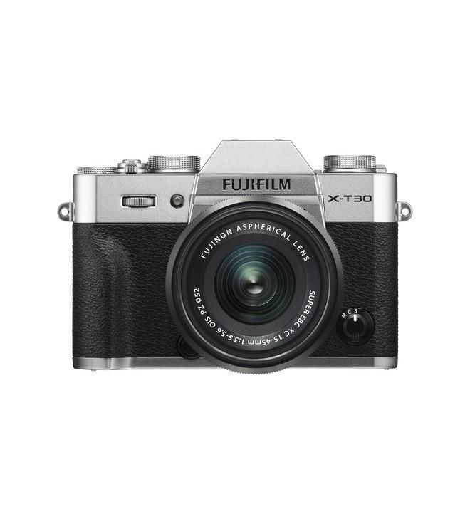 Fujifilm X-T30 - Cámara sin espejo, incluye XC 15-45mm F3.5-5.6, resolución 26.1 Mpx, color Plata