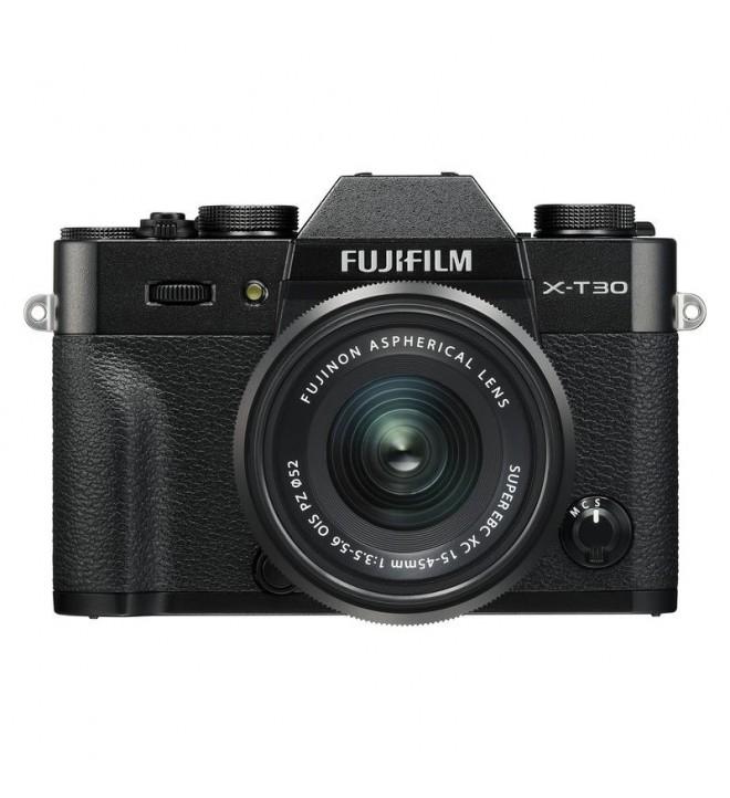 Fujifilm X-T30 - Cámara sin espejo, incluye XC 15-45mm F3.5-5.6, resolución 26.1 Mpx, color Negro