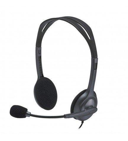 Logitech H111 - Auriculares de diadema, micrófono incorporado