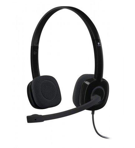 Logitech H151 - Auriculares de diadema, micrófono incorporado