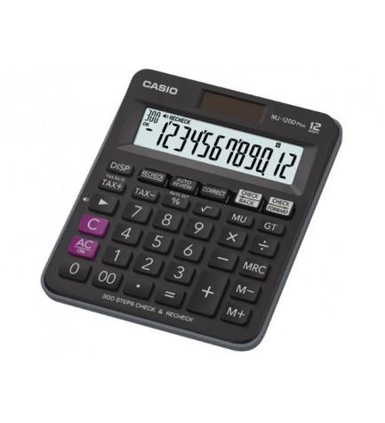 Casio MJ-120D PLUS-BK - Calculadora, 12 dígitos