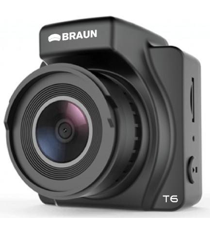 Braun Phototechnik B-BOX T6 - Cámara trasera, diseñada para vehículos, resolución Full HD, DVR, GPS, WiFi, color Negro