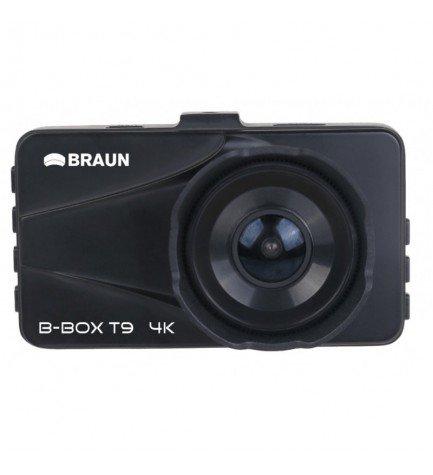 Braun Phototechnik B-BOX T9 - Cámara trasera, diseñada para vehículos, resolución 4K, DVR, color Negro
