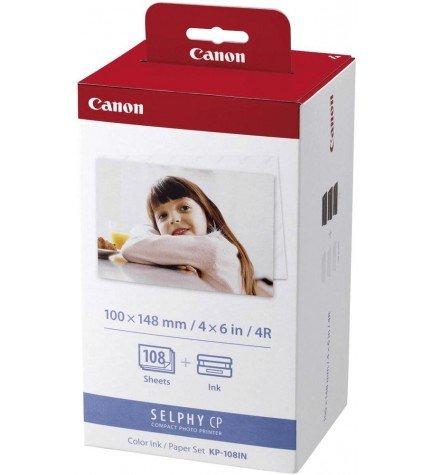 Canon KP-108IN - Papel térmico, dimensiones 10x15, 108 hojas