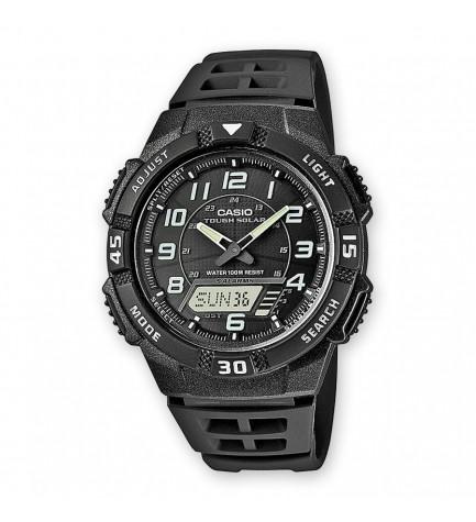 Casio AQ-S800W-1B - Reloj, solar, material caucho, color Negro
