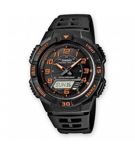 Casio AQ-S800W-1B2 - Reloj, solar, material caucho, color Negro Rojo