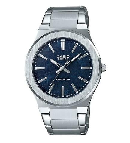 Casio BEM-SL100D-2A - Reloj, material acero, esfera azul