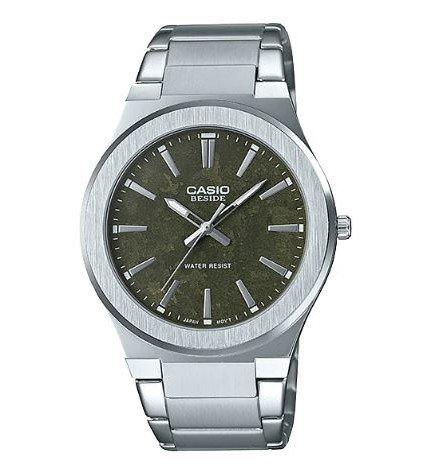 Casio BEM-SL100D-3A - Reloj, material acero, esfera verde