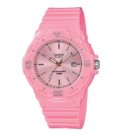 Casio LRW-200H-4E4 - Reloj, material caucho, esfera rosa, color Rosa