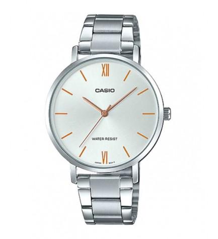 Casio LTP-VT01D-7B - Reloj, material acero, esfera plata