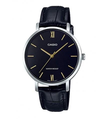 Casio LTP-VT01L-1B - Reloj, material piel, esfera negra