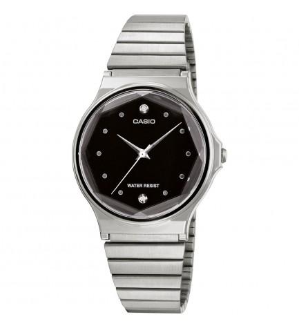 Casio MQ-1000ED-1A - Reloj, material acero, esfera negra diamonds