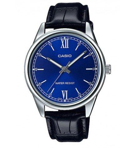 Casio MTP-V005L-2B - Reloj, material piel, esfera azul