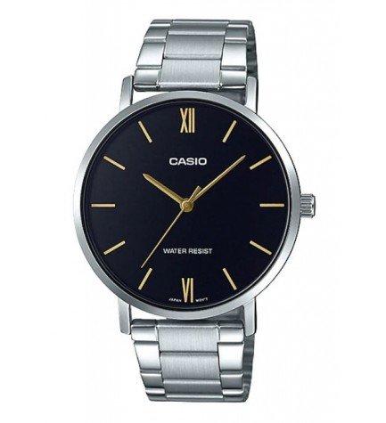 Casio MTP-VT01D-1B - Reloj, material acero, esfera negra