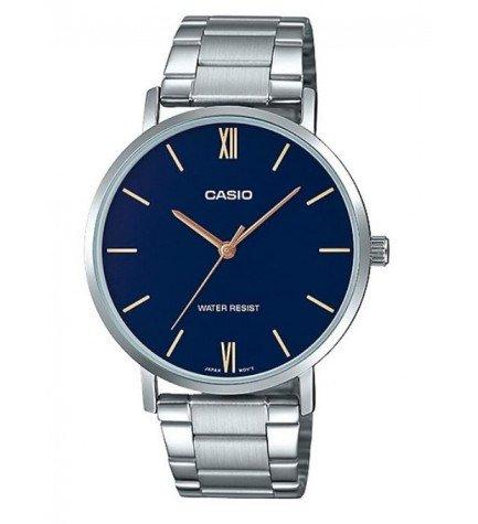 Casio MTP-VT01D-2B - Reloj, material acero, esfera azul