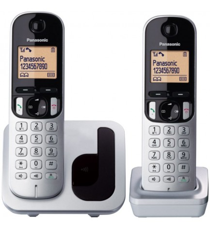 Panasonic KX-TGC212 DUO - Teléfono inalámbrico, color Negro