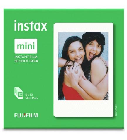 Fujifilm Instax Mini Film Glossy - Películas instantáneas, pack 50