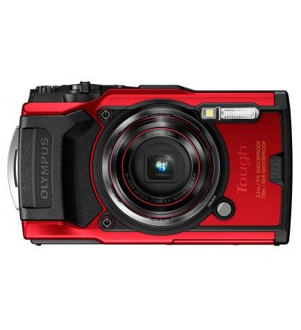 Olympus TG-6 - Cámara acuática, resolución 12 Mpx, zoom 4 aumentos, color Rojo