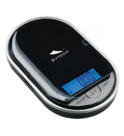 Sytech SYBS500 - Báscula de precisión, máximo 100g, color Negro