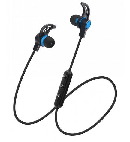 Sytech X1235BT - Auriculares deportivos, bluetooth 4.1, recargable, color Azul