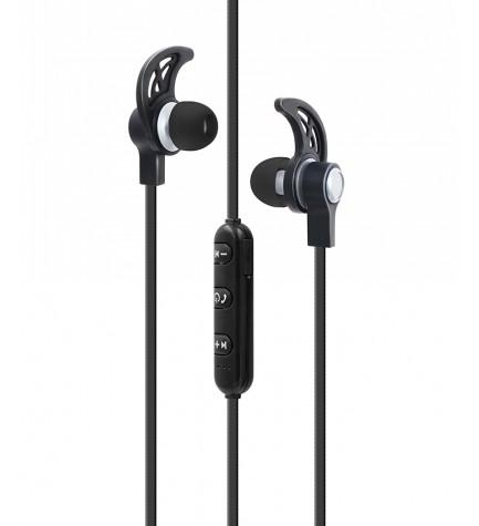 Sytech X1235BT - Auriculares deportivos, bluetooth 4.1, recargable, color Plata