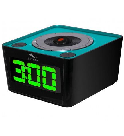 Sytech SY1034 - Despertador, proyector incorporado, sintonizador FM, color Azul