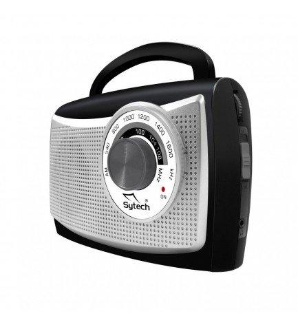 Sytech SY1652A - Radio, portátil, sintonizador AM FM, color Plata