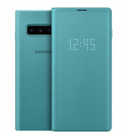 Samsung EF-NG973P Led View Cover - Funda, para Galaxy S10, color Verde