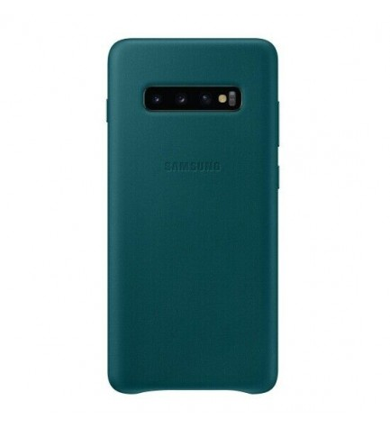 Samsung EF-VG975L Leather Cover - Funda, para Galaxy S10 Plus, color Verde